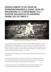 accid ferrov maurienne permissionnaires le 17 dec 1917