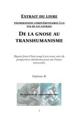 de la gnose au transhumanisme extrait 30 pages
