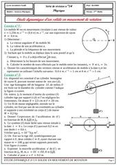 serie 14 etude dynamique d un solide de rotation