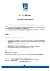 service civique education biodiversite