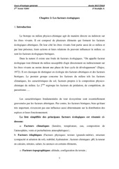 chapitre 02 facteurs ecologiques