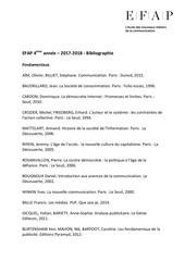 efap 2017 2018 bibliographie