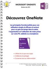 microsoft onenote manuel d utilisation