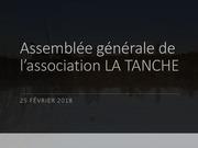 assemblee generale de la tanche 2018