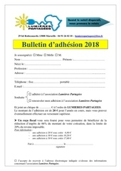 bulletin d adhesion 2018