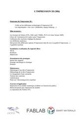 programme de formation impression 3d