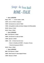 Fichier PDF voyage rome