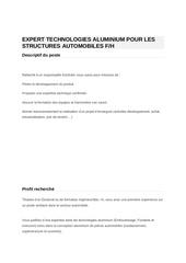 expert structures automobiles