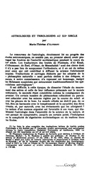 astrologues et theologiens du xii siecle 2