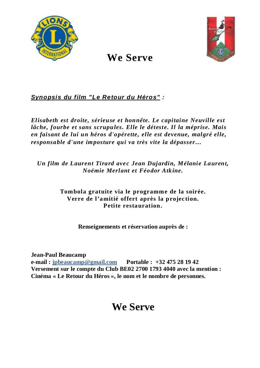 Invitation 16 Mars 2018 Le Retour Du Héros Fichier Pdf