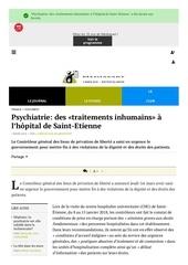 psychiatrie traitements inhumains a saint etienne