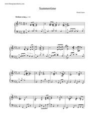 summertime transcription norah jones