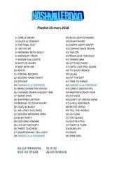 playlist 10 mars 2018