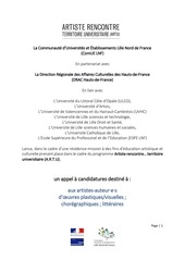 Fichier PDF appel a candidatures artu
