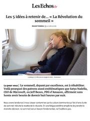 article les echos la revolution du sommeil