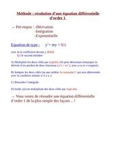 equa diff ordre 1