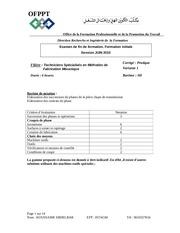 examen de fin de formation tsmfm 2010 pratique corrige