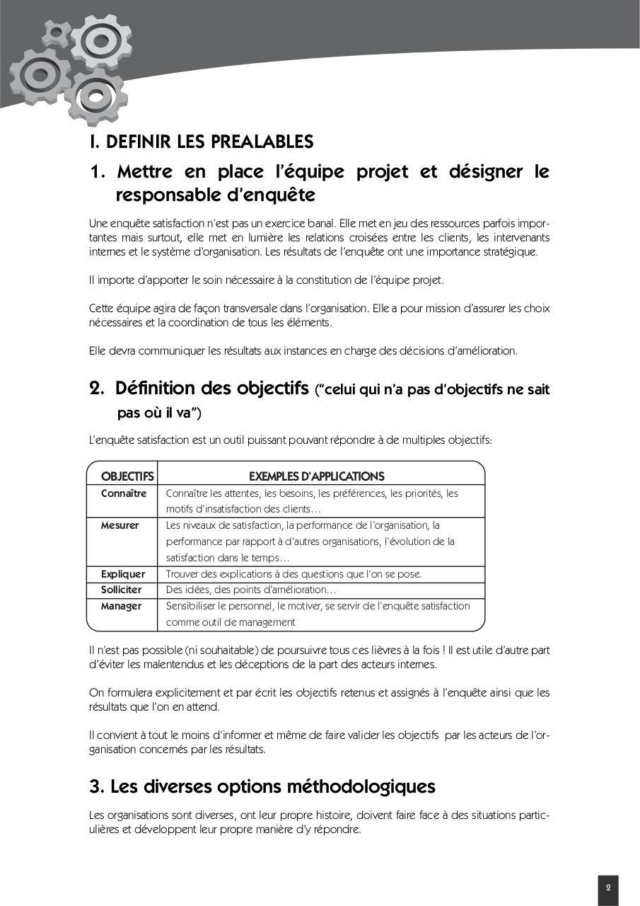 Exemple D Un Questionnaire De Satisfaction Client Pdf - Le ...