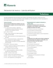 declaration de revenu liste