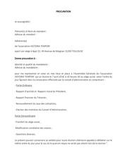 Fichier PDF procuration