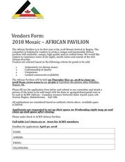 vendors form 2018