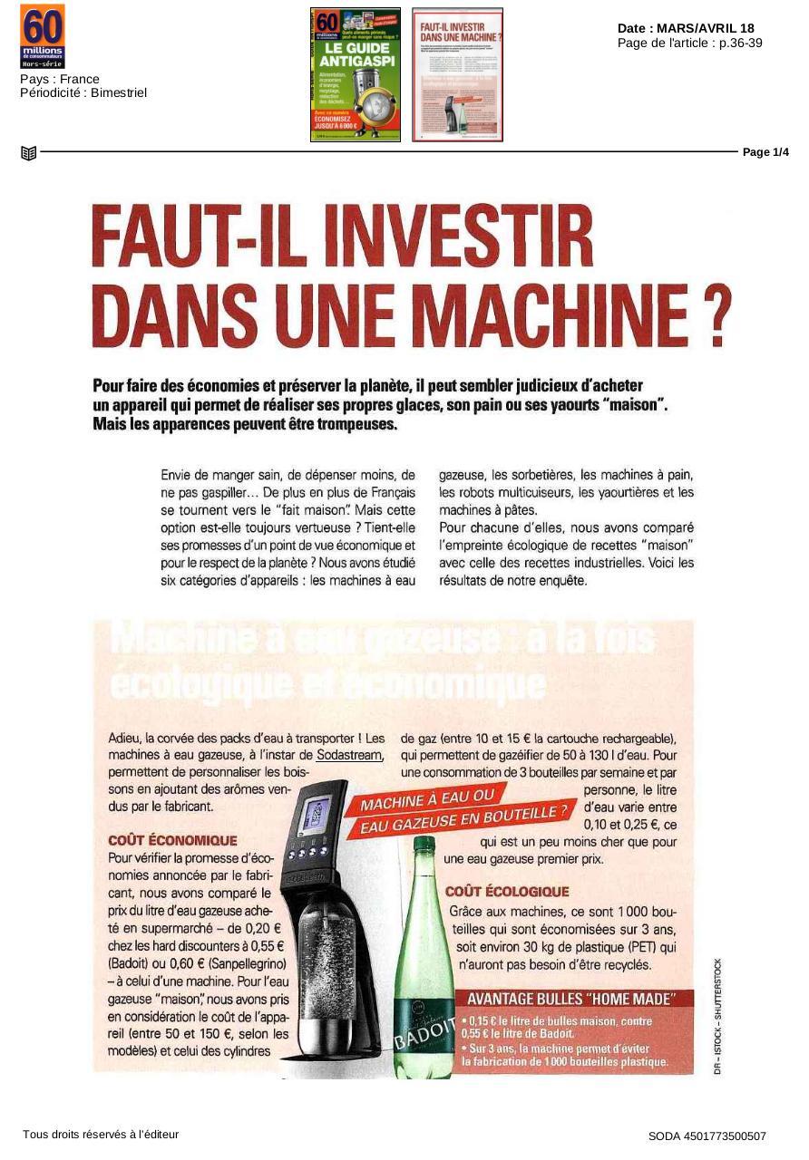 60 Millions De Consommateur Abonnement 20 Euros