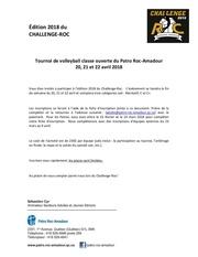 challenge roc inscription 2018