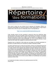 communique rsg diffusion repertoire enligne