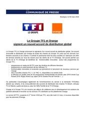 cp accord de distribution tf1 orange