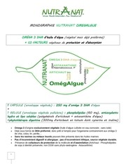 nutranat omegalgue monographie