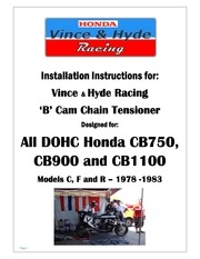 b cam chain tensioner installation guide
