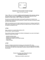 recrutement stagiaire communication