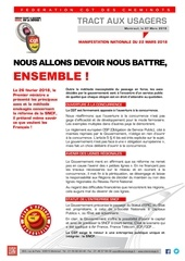 tract aux usagers pour le 22 mars
