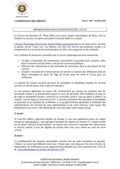 information sur les retraites de l etat le 06 03 18