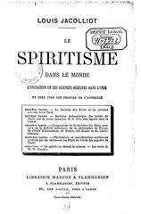 louis jacolliot le spiritisme dans le monde