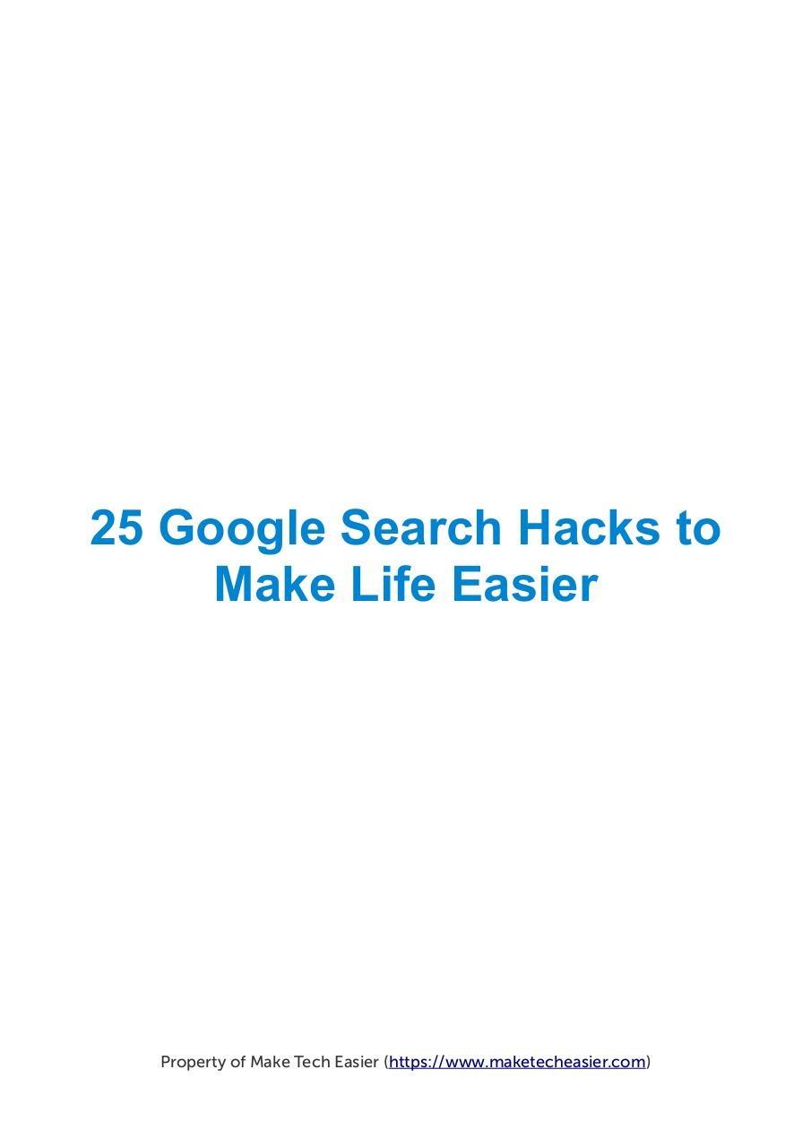 25 Google Dork Guide - Fichier PDF