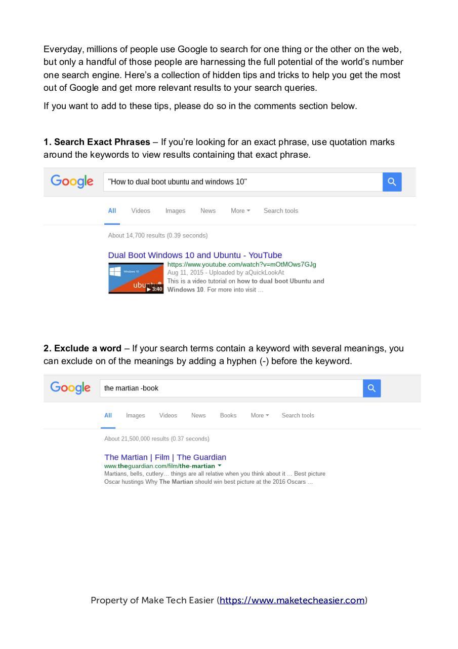 Google Dork Guide
