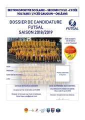 dossier de candidature 2018 2019 ss vg futsal g 1