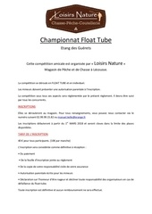 championnat float tube 2018