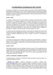 Fichier PDF conditions generales de vente