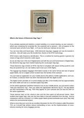 Fichier PDF what is the future of electronic bag tags
