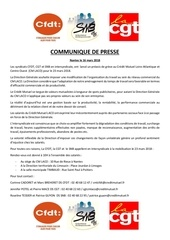 communique de presse intersyndicale laco du 16 mars 2018