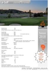 programme de golf 2018