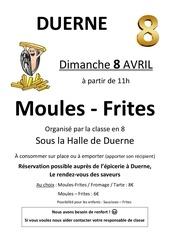 Fichier PDF affiche des moules frites