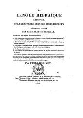 Fichier PDF fabre d olivet la langue hebraeque restituee t2 1816
