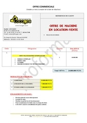 Fichier PDF offre poclain cat320b
