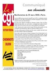 20180321 communique aux cheminots 22 mars 2018