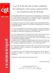 communique ud cgt 62 20 03 18