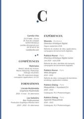 Fichier PDF cv vitiscamille