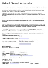 Fichier PDF demande convention